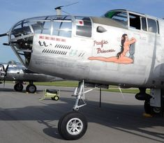"Nose art on B-25 Mitchell ""Pacific Princess"""