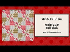 This block is made out of 2 squares of fabric. Yes, just 2 squares of fabric in contrasting fabrics. How to make aquick and easyHunter's starquilt block Learn how to make aHunter's …