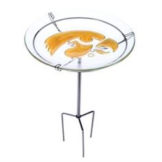 Iowa Hawkeyes Staked Bird Bath
