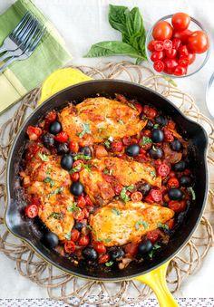 Single Skillet Chicken Puttanesca