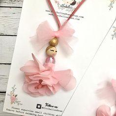 Ballerina necklace ballet gift ballerina necklace for kids