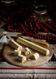 Receta sencilla de turrón navideño de chocolate blanco con frutos secos, apta para cualquiera nivel de experiencia cocinil. Con fotos paso a paso