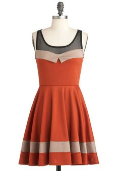 Love Will Find a Soiree Dress, #ModCloth  I LOVE these lines and the color combo.