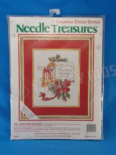 JCA Needle Treasures Christmas Mailbox Counted Cross Stitch Kit Personalize 2915 #JCA #Frame