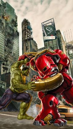 Avengers:Age of Ultron fight scene between Hulk and Ironman Iron Man Avengers, Marvel Avengers Assemble, Hulk Avengers, Marvel Art, Marvel Dc Comics, Marvel Heroes, Marvel Movies, Captain Marvel, Captain America