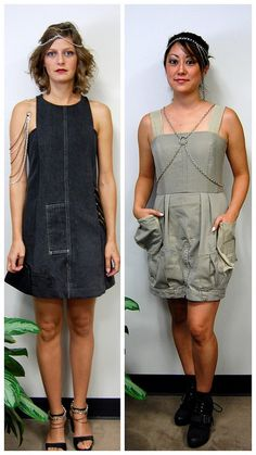 try making dress out of pants, but more importantly adding chains to my existing faves.