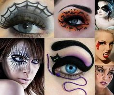Although Halloween is a time to dress up in costume, you don't have to apply a lot of makeup to get the look you want. Try concentrating on your eyes. It is a smaller area but still offers major impact, whether you're going for a sexy cat or scary ghost.