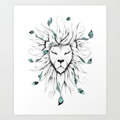 Poetic King Art Print by LouJah. Worldwide shipping available at Society6.com. Just one of millions of high quality products available.