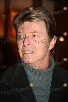 New York, NY 01-19-2006 David Bowie attends the opening of Lou Reed's…