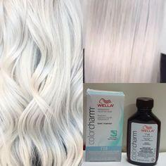 Toner For Blonde Hair, White Blonde Hair, Blonde Color, Hair Colour, Natural Ash Blonde, Light Ash Blonde, Permanent Hair Straightening Cream, Wella Color Charm Toner, Black Ponytail Hairstyles