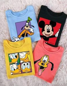 Korean Store, Baby Boy Outfits, Cute Outfits, Disney Boys, Boy Models, Mickey And Friends, Printed Tees, Kids Wear, Shirt Designs