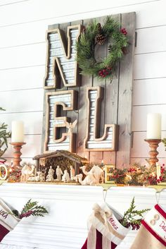cozy christmas living room tour - Neutral Christmas Decor