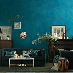 A murky, mysterious, dark teal. One of many shades of blue to sweep through fashion and accessories. I find this color particularly versatile in decorating.