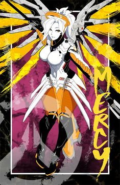 Mercy - More at pinterest.com/... #overwatch #fanart #print