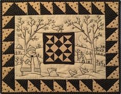 Winter Wonder Kit - This snowy winter scene features a happy snowman,  bunnies and birds · Embroidery PatternsHand EmbroideryQuilt ...