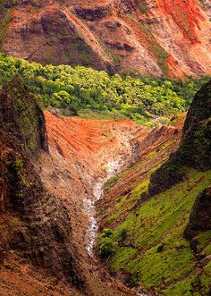 Waimea Canyon, Kauai, Hawaii By ​eyebex