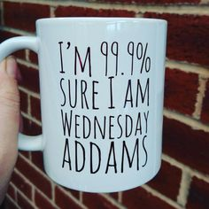 Wednesday Addams themed mug 11oz by PrintsmadewithLOVE on Etsy
