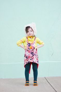 Winter Brights by Glitter+Wit Project Run & Play Week 1 Sewing Patterns For Kids, Sewing For Kids, Well Dressed Kids, Kids Outfits, Cute Outfits, Girly Things, Girly Stuff, Cute Babies, Kids Fashion