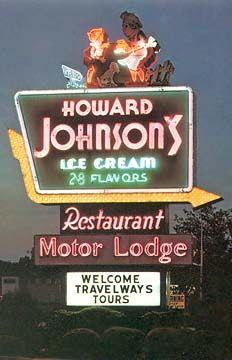 Howard Johnson's Sign Dayton Ohio
