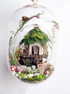 Fairy House, Tree House, Terrarium DIY Kit Set, Elf Gnome House in Glass Jar, Fairy Garden,Enchanted Forest Decoration Home Decor by NOVOSupplies
