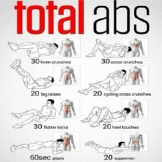Ab Workout For Busy Mornings Total abs workout at home.Total abs workout at home. 5 Minute Abs Workout, Total Ab Workout, Total Abs, Quick Ab Workout, Ultimate Ab Workout, Ab Fat Burning Workout, Best Ab Workout, Crunch Workout, Extreme Ab Workout