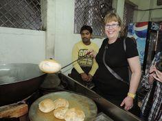 Breakfast Delights in Old Delhi, India - Puri or Poori - Unleavened Deep-Fried Indian Bread