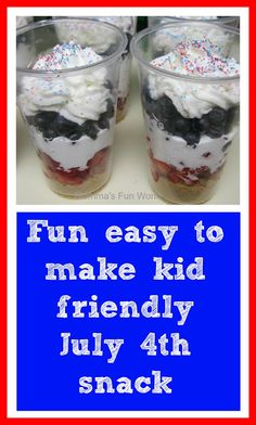 Fun and easy kid friendly July 4th treat - or you know, anyone friendly treat!
