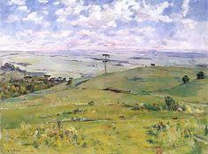 """theodoro de bona - """"amplo horizonte (campos-palmeira)"""" [broad horizon (plains at palmeira)], oil on canvas, 1969. (col. vilson deconto)"""