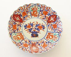 Antique Japanese Imari Large Charger Plate 1800s Flaming Pearl