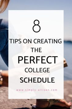 8 Tips for the Perfect College Schedule - Simply Allison : You know class registration is a stressful time period. This post gives you 8 tips help make the ideal college class schedule. Class Schedule College, College Freshman Tips, College Life Hacks, College Majors, College Classes, Scholarships For College, College Fun, College Football, College Students