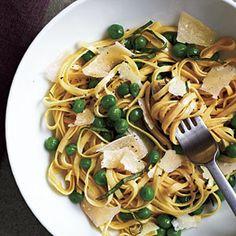 Spring Linguine with Basil | MyRecipes.com #myplate #veggies