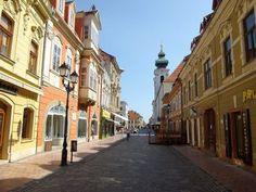 Gyor, Hungary - Old Downtown Serbia And Montenegro, Walking Street, Most Beautiful Cities, Travelogue, Eastern Europe, Budapest, Places Ive Been, Around The Worlds, Old Things