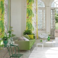 Lovely fabrics by @designersguild ! Such a beautiful spring green #interior. We love this ! #interiordesign #designersguild #green #fabric #luxury #interiordecor #furniture by annehaimesinteriors