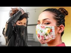 Today I am going to show you a homemade DIY fashionable face mask tutorial! Homemade Face Masks, Diy Face Mask, People With Glasses, Mask Online, Simple Face, Scrap Material, Clear Face, Fashion Face Mask, Sewing Tutorials