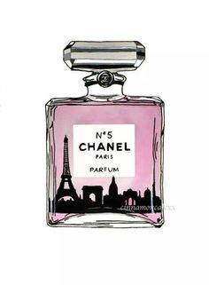 Chanel perfume fashion illustration Paris by Cinnamoncafexx, Chanel Art, Chanel No 5, Coco Chanel, Fashion Illustration Chanel, Beauty Illustration, Fashion Illustrations, Theme Divider, Chanel Wallpapers, Parfum Chanel