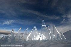 Ice Skyline, art installation by Marco Nones - photo Pierluigi Orler - Dolomiti Unesco RespirArt Pampeago ART INSTALLATION