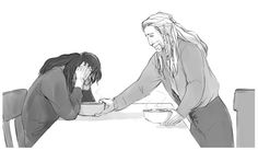 """Kili, eat your stew. Kili....it wasn't your fault."""