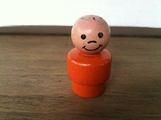 fisher price little people - wood orange boy by ChillyPumpkin on Etsy
