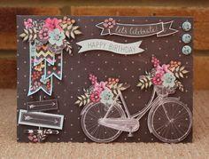Card using Chalkboard by Sue Smith. Birthday Cards, Happy Birthday, Craftwork Cards, Chalk Talk, Chalk Board, Card Making Techniques, Heartfelt Creations, Pretty Cards, Craft Work