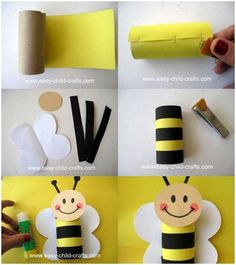 Paper towel roll animal crafts toilet paper roll animal crafts home decorations near me . Cardboard Crafts Kids, Toilet Paper Roll Crafts, Art Drawings For Kids, Art For Kids, Craft Activities, Preschool Crafts, Bee Party, Bee Theme, Animal Crafts