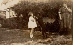 Christina A. Jacobs , d/o Joe & Janet Pike 1880-1935, little girl & dog ?