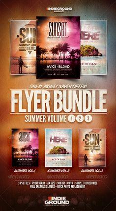 Summer Flyer/Poster Bundle Vol. 1-3