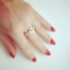 Silver Daffodil Stacking Ring by MarkKostiakJewellery on Etsy, £38.00