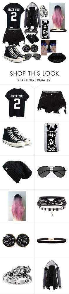 """👍"" by supernerdgirl300 on Polyvore featuring County Of Milan, Converse, OTM Essentials, Yves Saint Laurent, Azalea and King Baby Studio"