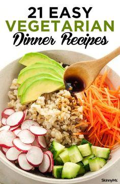 Weight Watcher Dinners, Plats Weight Watchers, Weight Loss Meals, Weight Watchers Diet Plan, Easy Vegetarian Dinner, Healthy Dinner Recipes, Diet Recipes, Going Vegetarian, Vegetarian Breakfast