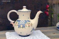 Vintage Zeller Keramik Zell-A-HN 'Favorite' pattern Folk Art Design Large Teapot Retro Germany Drinkware Collectible Zeller Keramik by LittlemixAntique on Etsy