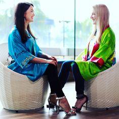 Olga and Kate in Silk Kimonos.