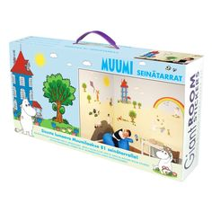 Moomin wall stickers are an easy and fun way to decorate a happy and colourful childrens' room. The package includes 81 stickers. Let your children be a part of the fun and decorate as a family!