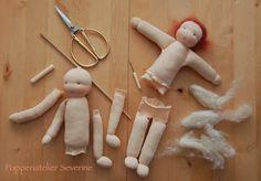 Poppenatelier severine ledematen enz limbs etc Homemade Dolls, Sock Dolls, Tiny Dolls, Sewing Dolls, Doll Tutorial, Waldorf Dolls, Felt Toys, Fabric Dolls, Softies