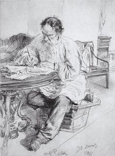 Lev Tolstoy I. Repin   Илья Репин, рисунки.